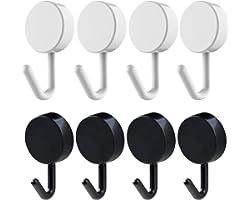 10pcs Self Adhesive Wall Hooks Damage-Free Hanging Wall Hooks Towel Hooks Coat Hooks Key Hooks for Home, Kitchen, Bathroom Br