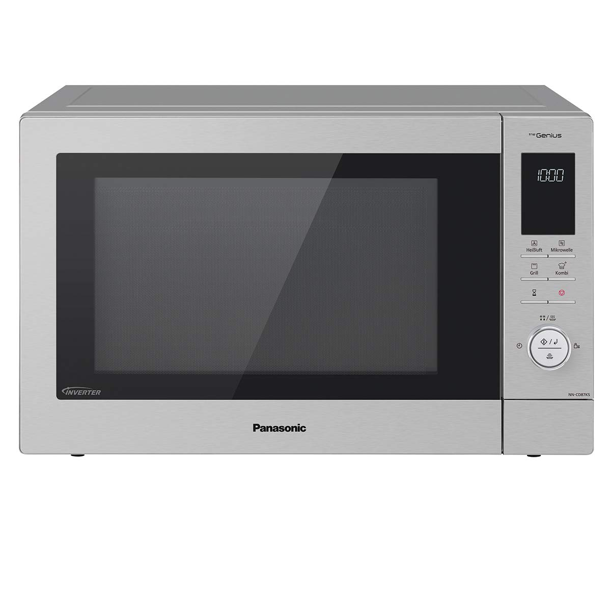 Panasonic NN-CD87 Kombi Mikrowelle (1000 Watt, mit Heißluft und Grill, 34 Liter) edelstahl