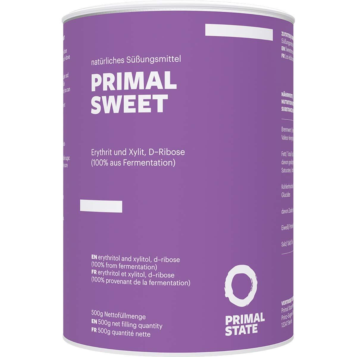 Natürlicher Zuckerersatz | mit Xylit & Erythrit & Ribose | kalorienreduzierte Zuckeralternative | vegan, glutenfrei & zahnfreundlich | 500g Dose