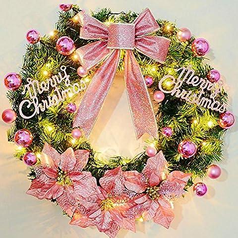 LXY Dekorative Kollektion Eleganz Girlande Sweet Home Beleuchteter Kranz (vier Farben) , 45CM , pink