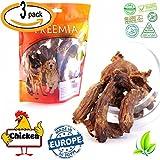3er pack 300g (Hühnerhälse) Hunde Geschenk Snack Kausnacks 100% natural dental sticks Hund | Für haustier Gesunde Hundesnacks vom Hähnchen Leckerbissen Geflügel Hühnerhälse fettarm Hähnchenhälse Hunde-Leckerli (Hühnerhälse)