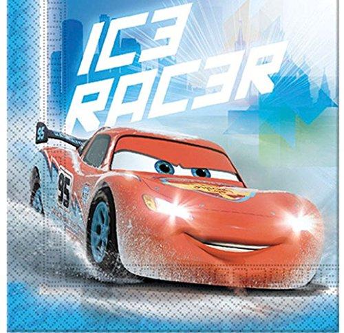 procos-84837-serviettes-papier-cars-ice-racer-33x-33cm-2plis-20pices-bleu-rouge
