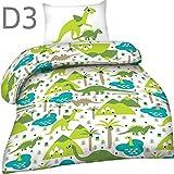 Warme Kinder Baumwolle Biber Flanell Bettwäsche mit Reißverschluss 100x135 40x60 + GRATIS Dreamhome24 MF Staubtuch, Design - Motiv:Design 3
