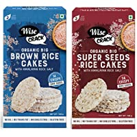 Wise Crack Organic Big Rice Cakes Brown Rice. Whole Grain Puffed Cracker & Wise Crack Organic Big Size Rice Cakes Super…