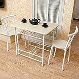 LJHA Klapptische und Stühle Tisch für zwei 1 Tisch und 2 Stühle Frühstückstisch Esstisch 2 Farbe Optional 80 * 60 * 72cm Tabelle (Farbe : A)