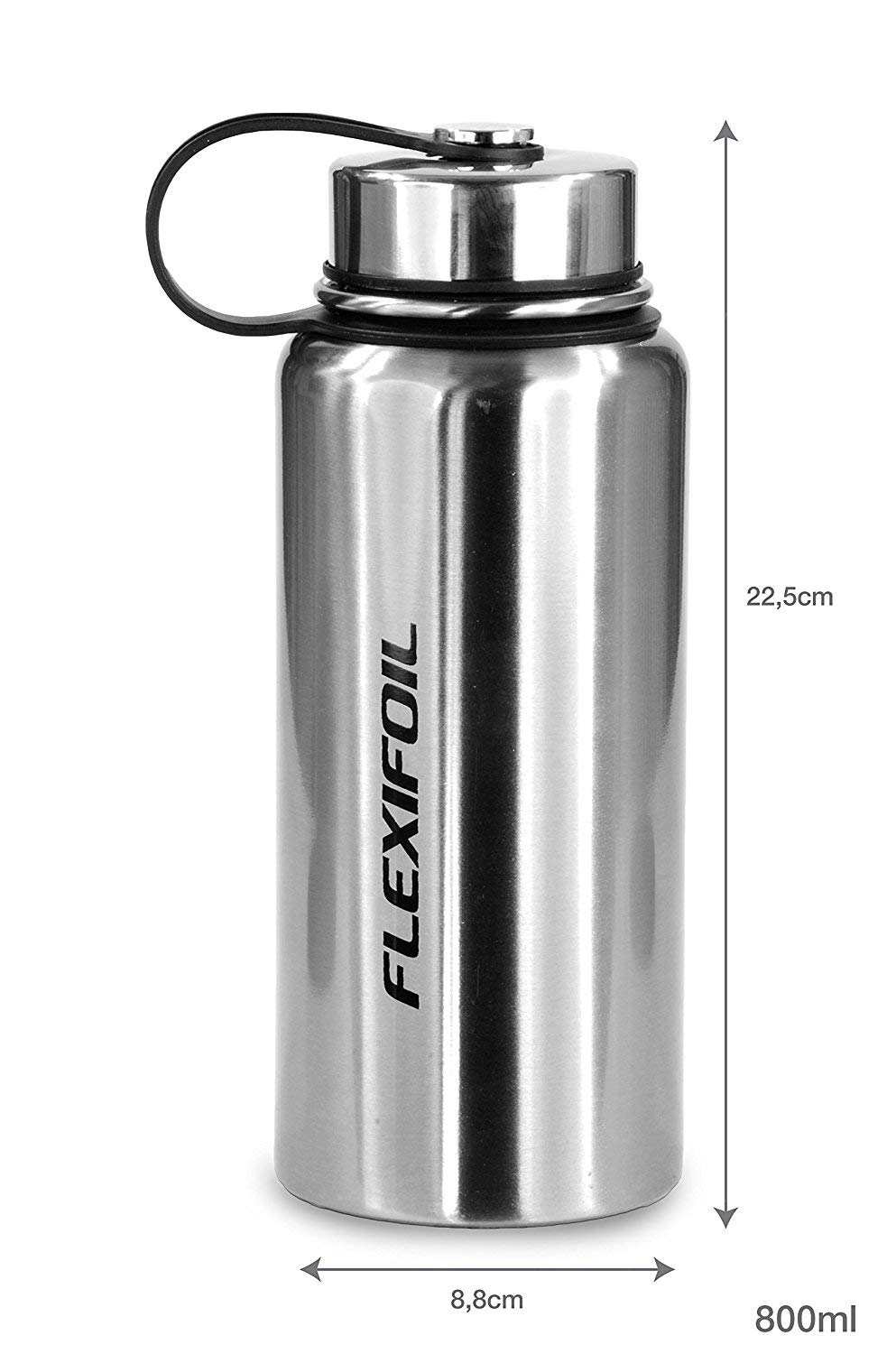 Flexifoil Thermos Flask - Best 800ml Vacuum Thermal for Coffee Tea and Water Drinking - Travel and Camping - Perfect Choice of Thermoses inc. Bottle Stopper 5