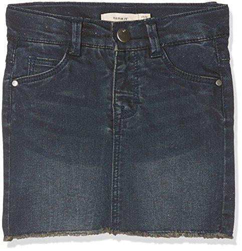 NAME IT Mädchen NITANDRINE DNM Skirt F Mini Rock Blau (Medium Blue Denim) 104