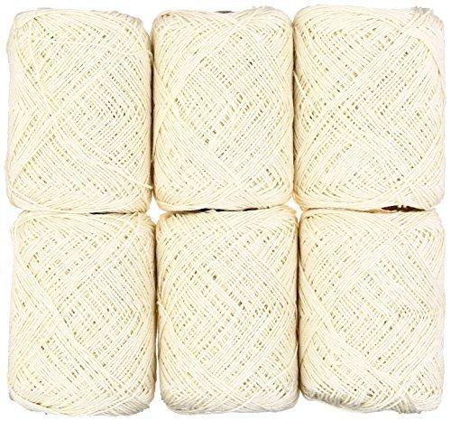 Olempus made cord Seide & amp; Leinen Chiffon Wolle Garngelenk weiß Serie 30 g 106 m 6 Stück -