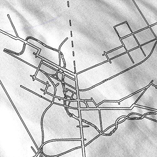 Bristol Stadt Karte Mode Stadt Karte Damen Schwarz S-2XL Muskelshirt   Wellcoda Weiß