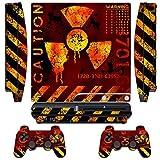 Designfolie Skin Sticker fuer Sony PS3 Slim Console System mit Zwei(2) Aufkleber fuer: Playstation 3 Dualshock Controller - MeltDown