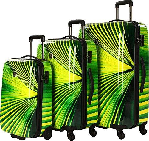 Saxoline Palm Tree Koffer-Set, 79 cm, 210 Liter, Grün