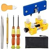 Vastar Kit de Réparation Montres,Kit de Remplacement de Batterie Montres Professionnel et Outil pour Ouvrir Montre Boîtier Vi