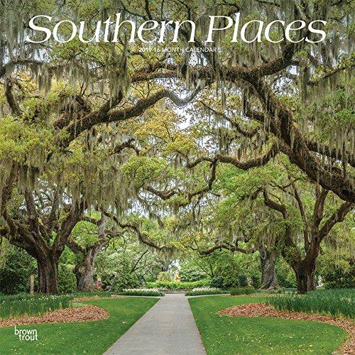 Southern Places - Plätze in den Südstaaten der USA 2019 - 18-Monatskalender mit freier TravelDays-App: Original BrownTrout-Kalender por BrownTrout