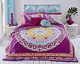 Pieridae Paisley, Set biancheria da letto matrimoniale copripiumino e federe, con disegno Mandala, colore rosa