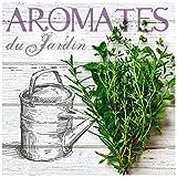 Promobo -Tableau Toile Cadre Cuisine Maison Aromates Du Jardin Savoureux Gourmand