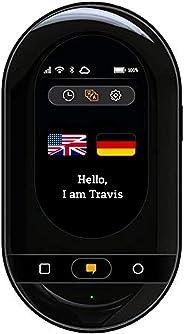 Travis Touch Plus – Intelligenter Sprachübersetzer mit 105 Sprachen, Touchscreen, 4G LTE, Hotspot & Kabelloses Aufladen (Schw