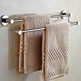 Bad Handtuchhalter / dickere doppelte Handtuchhalter / perforierte Wand Bad Handtuchhalter ( größe : 50 cm )