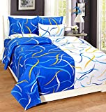 Home Elite 120 TC Cotton Double Bedsheet with 2 Pillow Covers - Abstract, Multicolour