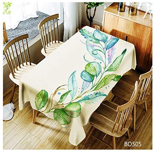 QWEASDZX 3D Tischdecke Digitaldruck Polyester Fleckabweisende Tischdecke Stoff Rechteckige Tischdecke Geeignet für Innen und Außen Mehrzweck-Tischdecke 140x180cm