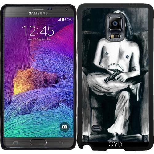 SilikonHülle für Samsung Galaxy Note 4 (N910) - Der Clown, Der Nicht Lustig War by (Beängstigend Clow)
