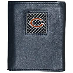 NFL Chicago Bears Leather Gridiron Tri-Fold Wallet