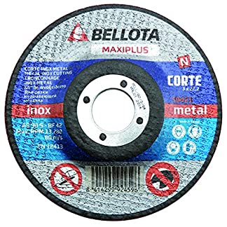 Bellota 50421-180 Disco ABRASIVO MAXIPLUS Corte INOX Metal 180MM