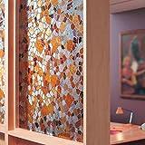 Sichtschutz Fensterfolie Sichtschutzfolie, blickdicht gebeizt Glas favolook selbst getöntes 45x PVC-kein Klebstoff 3D Cobble Statische selbstklebend, Bad Glas Aufkleber Home Decor, 1 PC