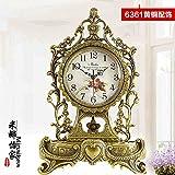Salón De Estilo Europeo Antiguo Reloj De Latón Latón Reina El Silencio Reloj De Cuarzo Reloj De Mesa Villa Decoración,Accesorios De Bronce 6361
