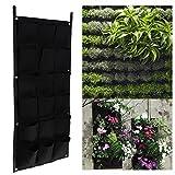 Amazingdeal365 18 und 4 Pocket Hängen Vertical Garden Planter Indoor Outdoor Kräutertopf Pflanzwand, Pflanzgefäß für Kräuter, Blumen (18)