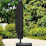 GZQ Sonnenschirm, Extra große Cantilever Regenschirm protectiver Wasserdicht Atmungsaktiv Oxford Stoff
