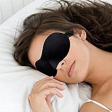 Zollyss 3D Sponge EyeShade Sleeping Eye Mask Cover eyepatch blindfolds for Travel health care to shield the light Office sleep mask