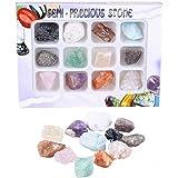 LQKYWNA Gems Rock Mineral Specimen Juguetes Educativos con Caja De Colección Gran Regalo De Ciencia para Entusiastas De La Mi