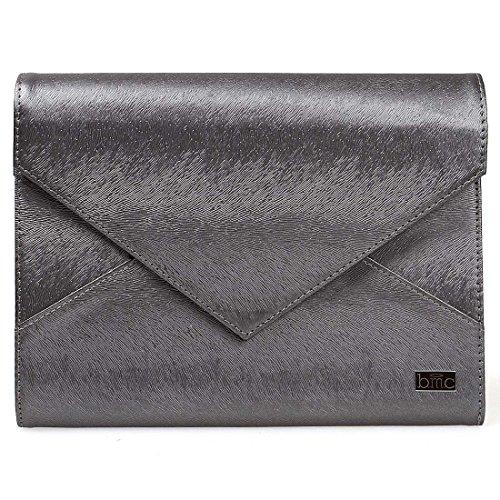 BMC Pochette forme enveloppe pour imitation cuir style XL bande de support estampage onglerie - X-Large, imitation cuir, gris acier