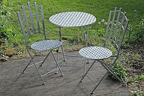 Set Nina 1 Tisch + 2 Stühle Eisen