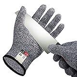 1 Paar Schnittfeste Handschuhe, Lebensmittelqualität Küchenhandschuh für die Handsicherheit beim Schneiden, Kochen, Yard-Arbeit erledigen, Fleisch schneiden und Holzschnitzerei, Level 5 Schutz, Größe L
