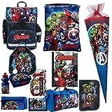 AVENGERS Hulk Thor XL 15 Teile SCHULRANZEN SET RANZEN FEDERMAPPE RUCKSACK TASCHE Schultüte 85 cm mit Sticker von Kids4shop
