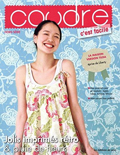 Jolis imprimés rétro et pluie de fleurs : Mes premiers pas en couture - Jupes, robes, tunique, blouse - Mon sac en tissu préféré