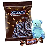 #7: Gift Teddy bear with pack of Snickers Miniature