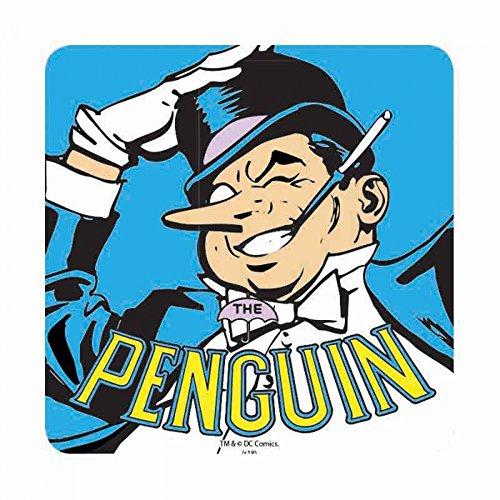 Untersetzer mit klassischem Pinguin und Logo