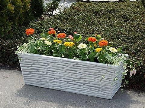 Pot de fleurs jardinière rectangulaire pour bac à fleurs Grand massif en pierre au gel