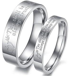 Prix pour Une Pi/èce Epinki 8MM Bague Couple Acier Inoxydable King et Queen Argent Mariage Anniversaire Bague Taille 49-66.5