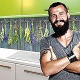 StickerProfis Küchenrückwand Selbstklebend Pro MEDITERRANE KRÄUTER 60 x 60cm DIY - Do It Yourself PVC Spritzschutz