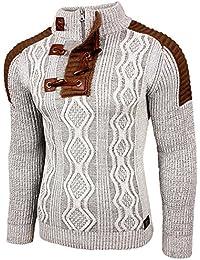 Rusty Neal Herren Grobstrick Strickpullover Zipper Pullover Sweatshirt RN -13285 ca855c3486