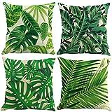 ocjemotovaglie 4 pezzo lino federa duro struttura tradizionale classico decorativo Tropical Divano Home Decor federa 45x45cm 18X18 pollici