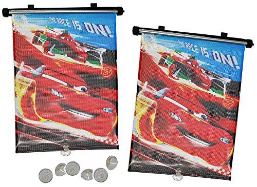 Unbekannt 2 TLG. Set Sonnenschutz Rollo - Disney Cars - für Fenster und Auto Seitenscheibe - Sonnenblende - Jungen Kinder Baby - Sonnenrollo - Mc Queen Francesco - Roll..