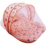 Baby Grow Baby Mattress Bedding With Mosquito Net - Printed (Orange_Net)