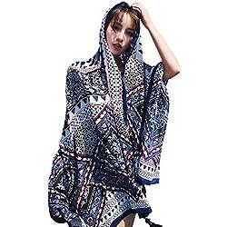 YFZYT Estilo Bohemio Exótico Vintage Pañuelo Mujer Mantón Bufanda Moda Chals Señoras Elegante Vistoso Estolas Fular para Fiesta, Playa, Uso Diario