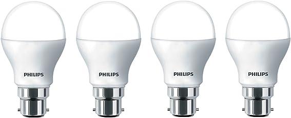 Philips Base B22 9-Watt LED Bulb (Pack of 4, Warm White)