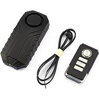 guoxuEE Drahtlose Fernbedienung Alarm Fahrrad Auto Vibrationsalarm Sicherheitsschloss schwarz