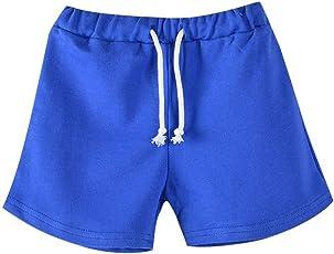 Brightup Pantaloncini estivi per 3-13 anni ragazza bambini francese Terry Short Pantaloncini sportivi atletici estate Pantaloncini da spiaggia